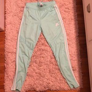 Light blue adidas sports pants
